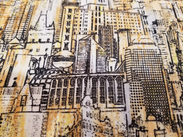 1/2 yard cut Timeless Treasures Urban Landscape Sketch