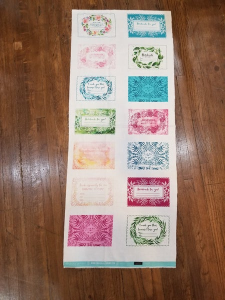 Moody Bloom Quilt Labels 1/2 yard