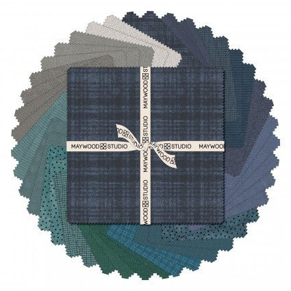 """Stormy Seas Flannel 5"""" squares"""