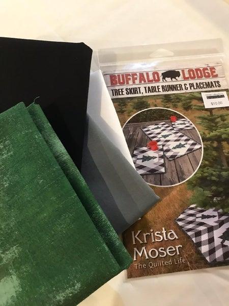 Buffalo Lodge Table Runner & Place Mats Kit