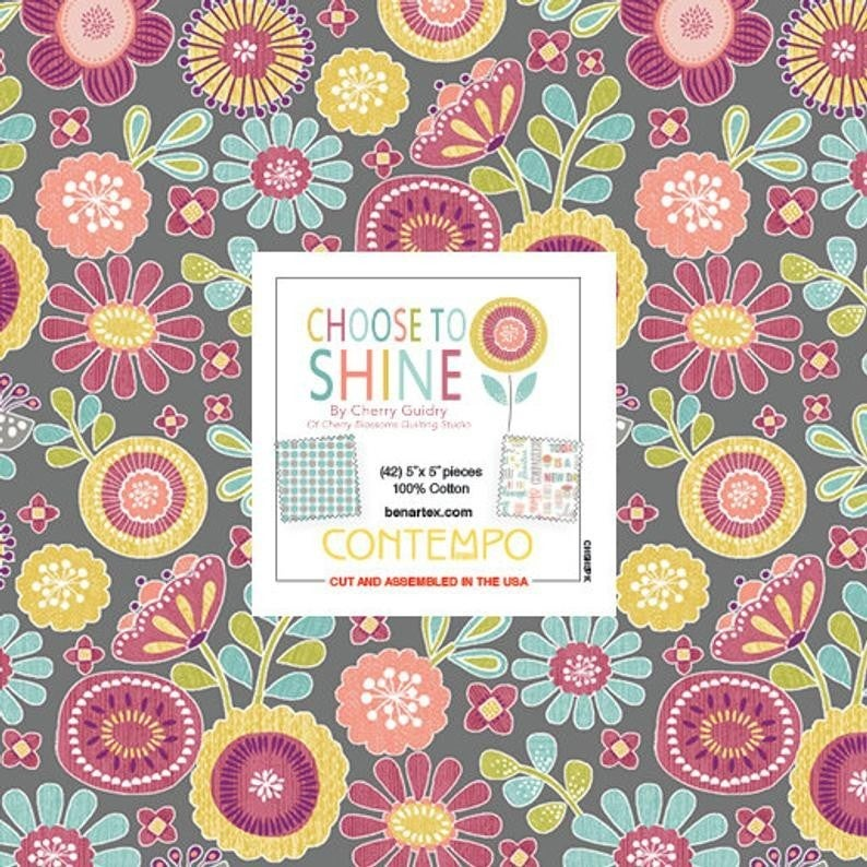 "Choose to Shine 5"" squares"