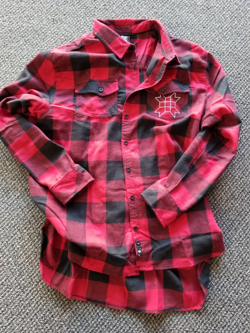 red/black flannel shirt by Burnside