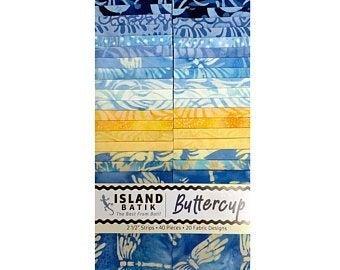 Buttercup Island Batik Strip Set
