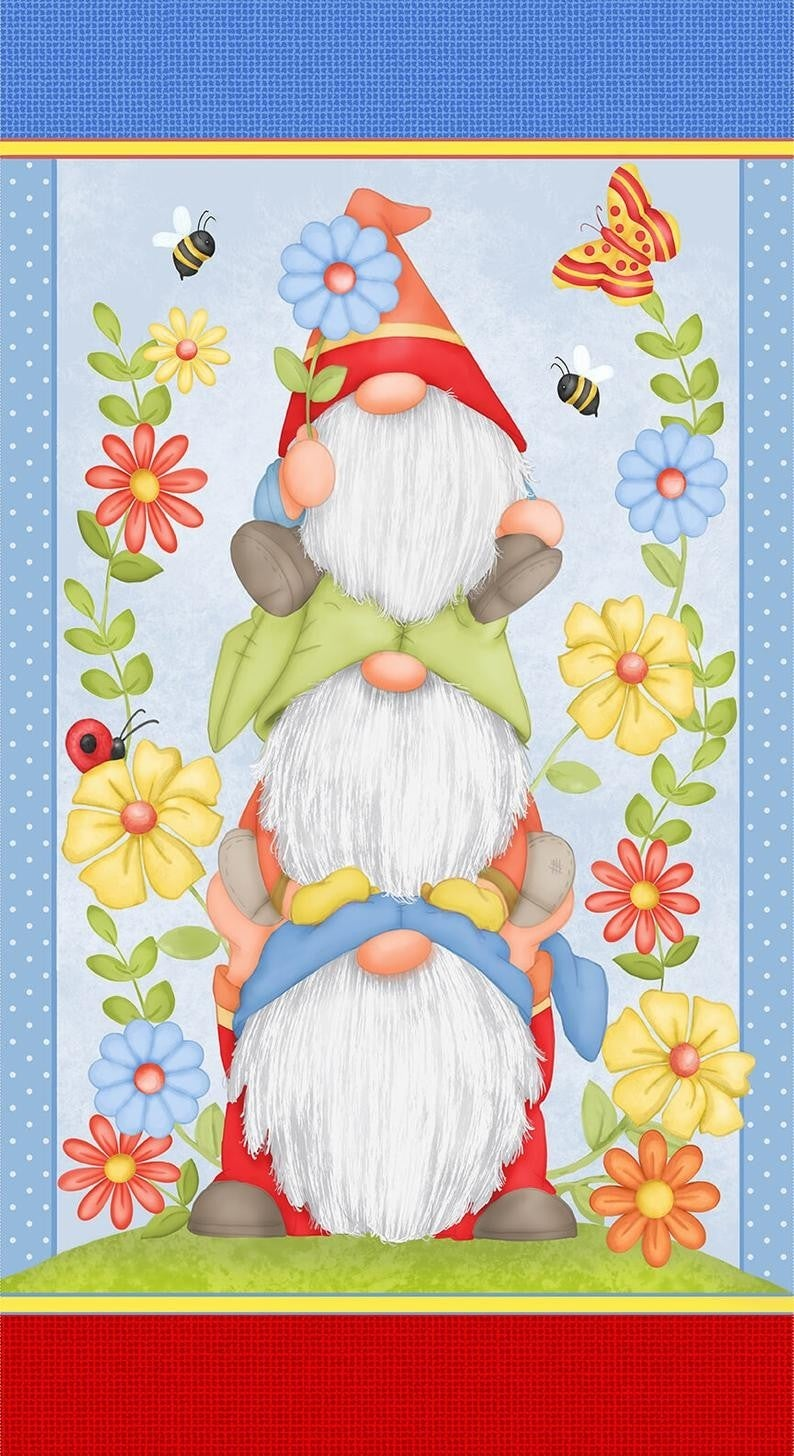 """Gnome Is Where Your Garden Grows 24"""" x 42"""