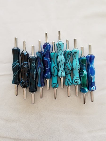 Handmade Seam Rippers and Stiletto Blue