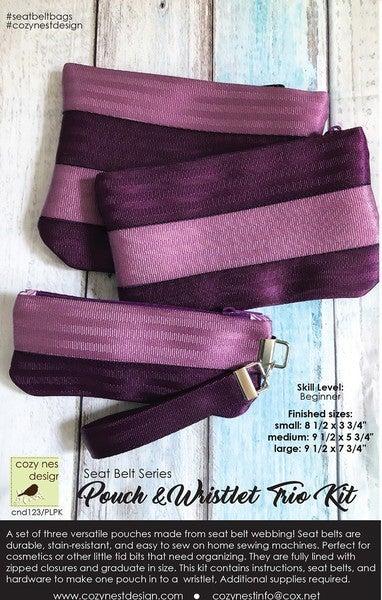Pouch & Wristlet Trio Seatbelt Kit