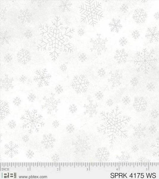 White on White Snowflakes 1/2 yard cut