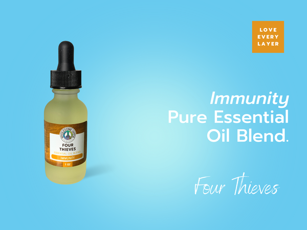 4 Thieves Essential Oil Blend - Immunity - Clove, Lemon, Eucalyptus, Cinnamon