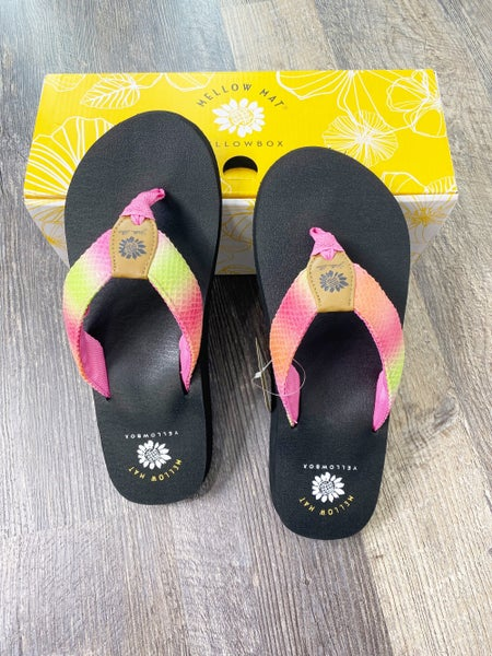 Yellow Box Nadeli -  Fuchsia and Yellow Ombre Flip Flop