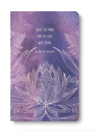 """""""Quiet the mind, and the soul will speak."""" Soft Cover Journal"""