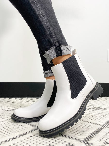 """Corky's """"To Be Honest"""" White Boot"""