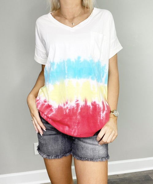 DOORBUSTER Dorothy Tie Dye Short Sleeve Top