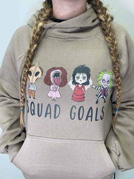 Squad Goals Mocha Graphic Hoodie