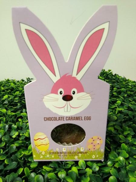 Chocolate Caramel Egg with Bunny Ear Box
