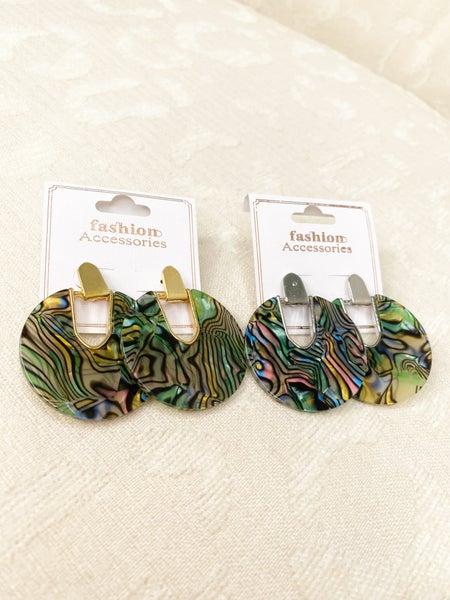 Circular Multicolor Earrings