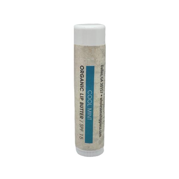 Organic Lip Butter - Cool Mint SPF15