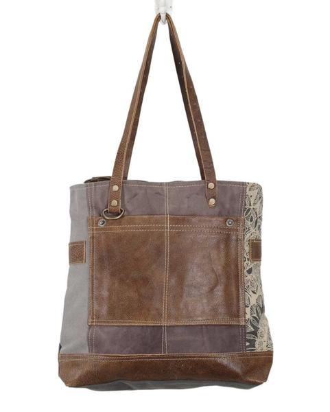 Side Floral Print Canvas Tote Bag ***PRESALE***