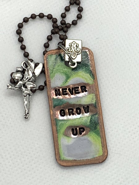 Kate Mesta Never Grow Up Necklace