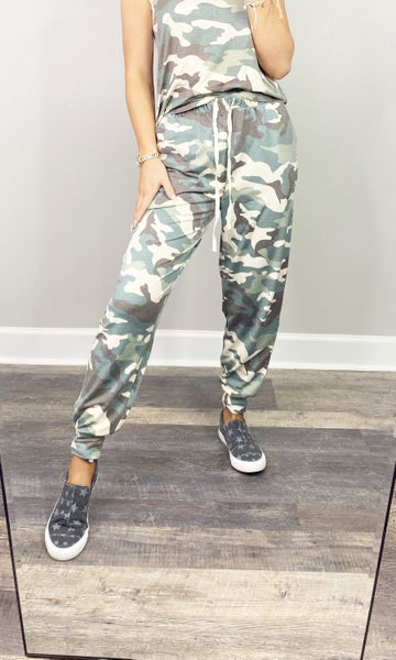 Soft French Terry Camo Joggers in Plus ***MULTIPLE COLORS***