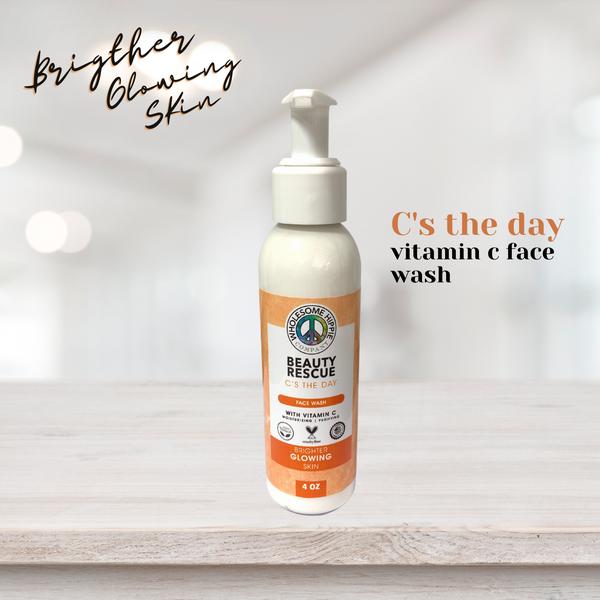 4oz Beauty Rescue Vitamin C Face Wash