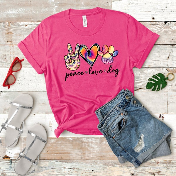 Peace | Love | Dog Graphic Tee