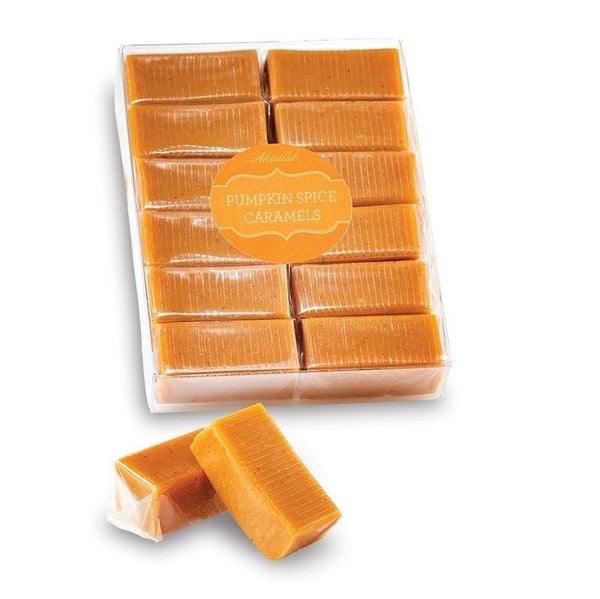 Pumpkin Spice Wrapped Caramels