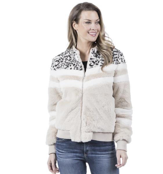 Leopard Chevron Jacket w/Pockets