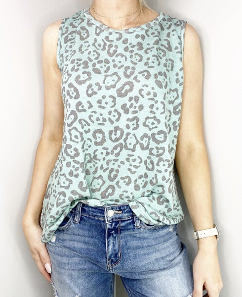 SMALL ONLY - Mint and Gray Top with Buttons