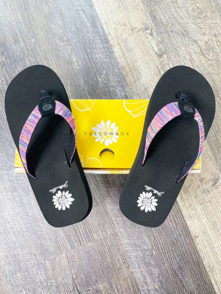 Yellow Box Fayne - Multi Color Flip Flop