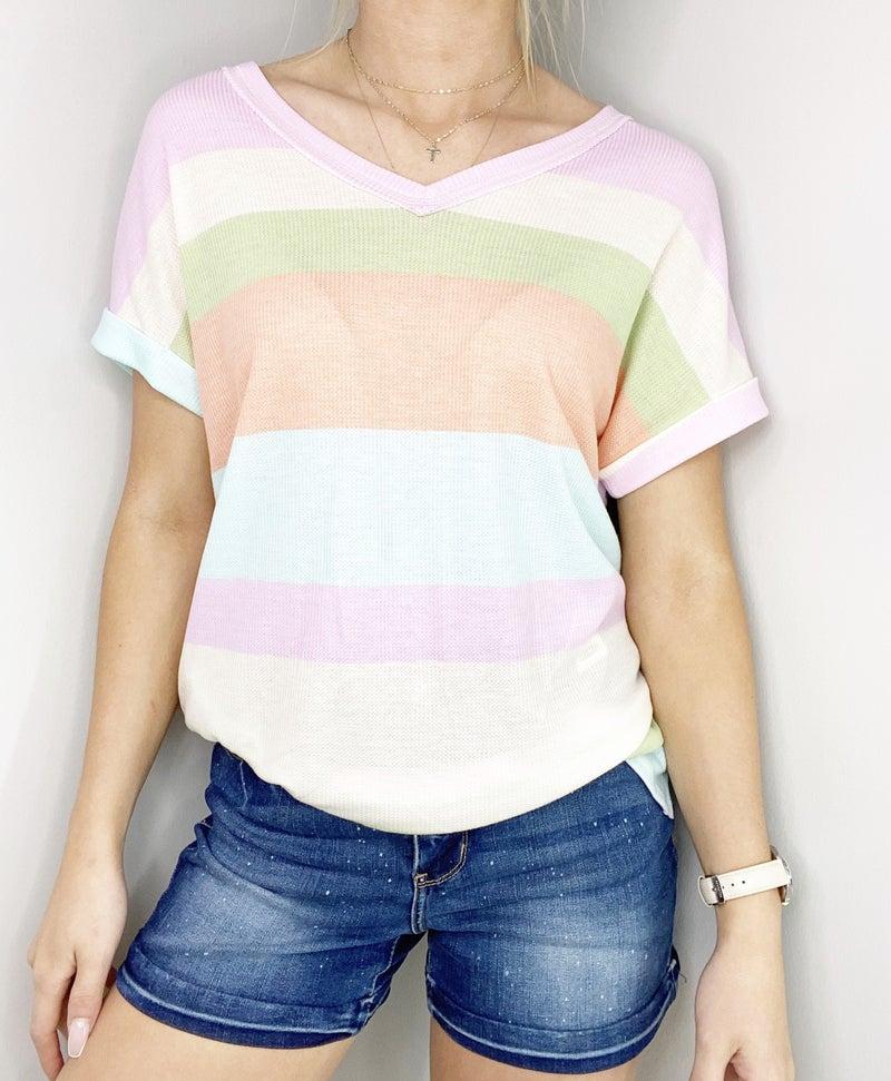 LG ONLY HoneyMe Summer Lovin' striped V-neck