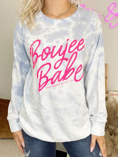 Boujee Babe Light Ombre Graphic Pullover