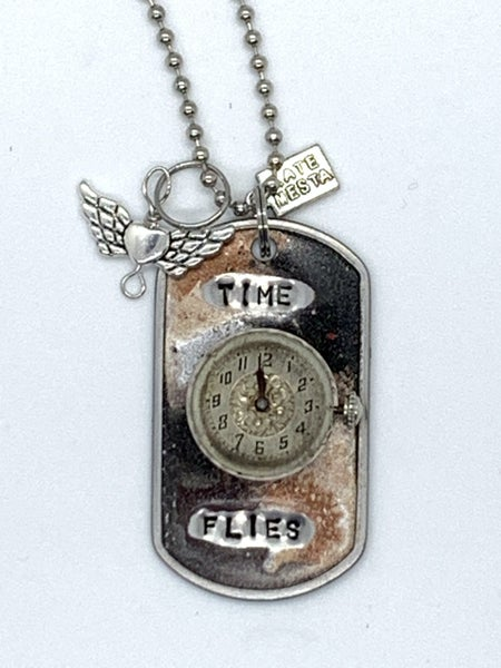 Kate Mesta Time Flies Necklace