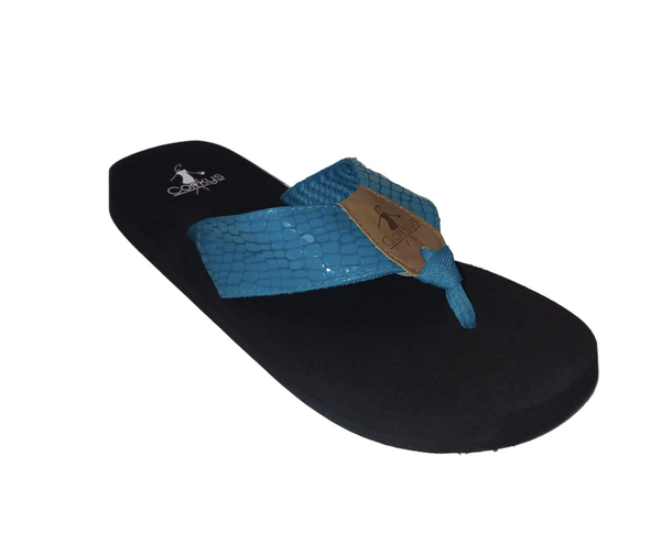 Corkys Lumi Turquoise Flip Flops