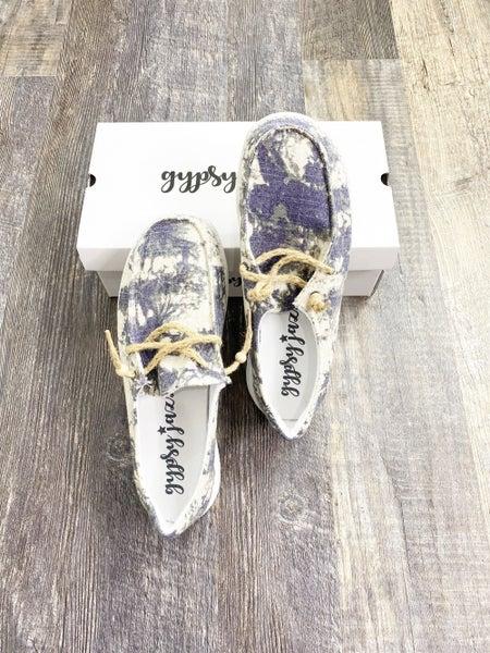 Gypsy Jazz Gray Swirl Sneakers