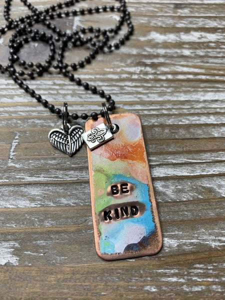 !Kate Mesta Be Kind Hand Painted Dog tags
