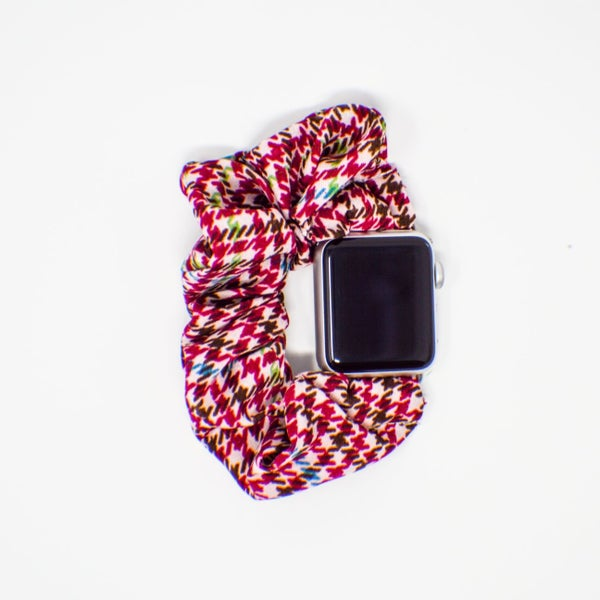 Plaid Scrunchie Watch Band - 38/40 mm