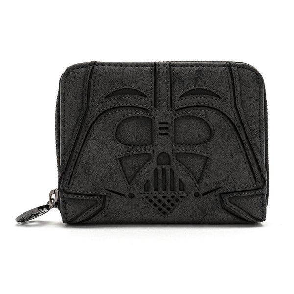 LOUNGEFLY X STAR WARS VADER HEAD ZIP AROUND WALLET