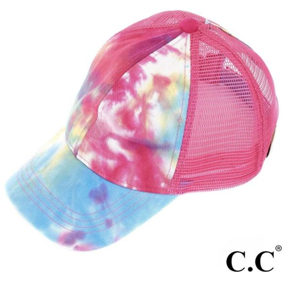 Hot Pink C.C. Pony Cap
