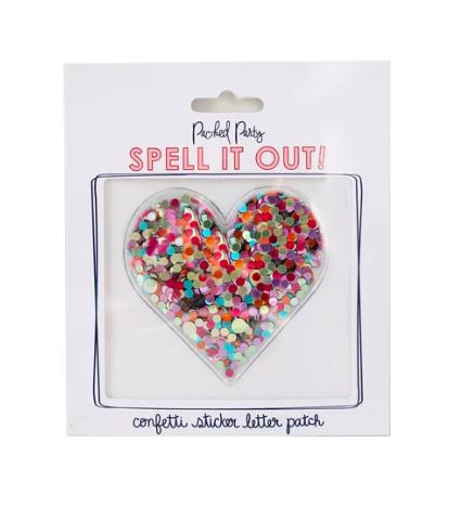 Heart Confetti Sticker
