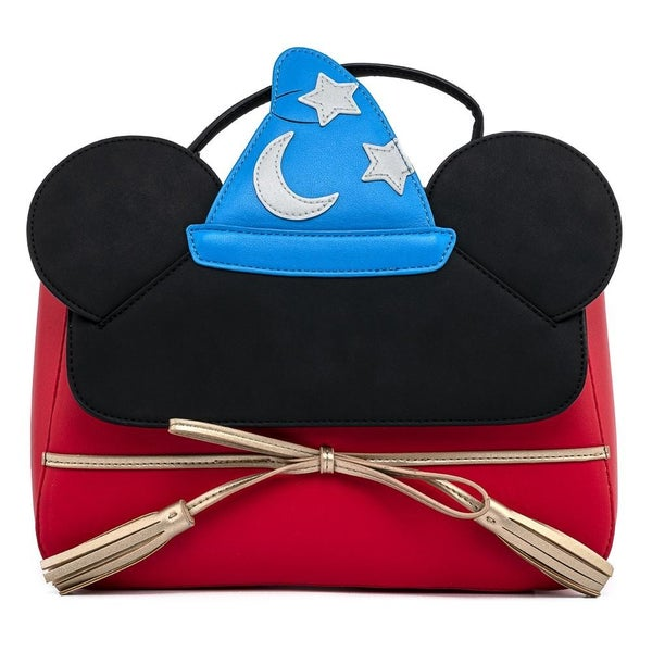 !LOUNGEFLY X DISNEY FANTASIA SORCERER MICKEY MOUSE COSPLAY CROSSBODY BAG