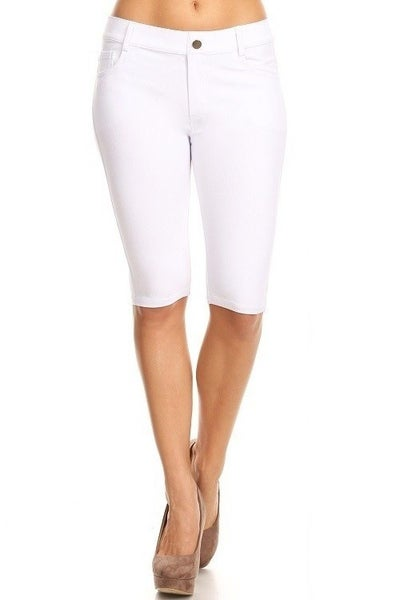Women's Classic 5 Pocket Bermuda Shorts in White