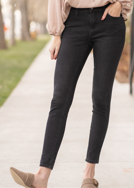 Judy Blue THERMADenim Black Skinny Jeans