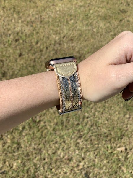 Apple Watch Band - Gold Snake Magnetic 38MM