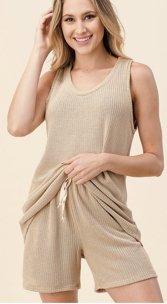 SM ONLY Sleeveless Two Piece Set in Beige