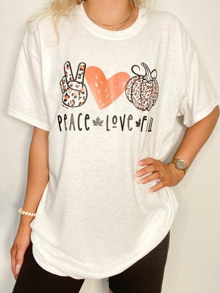 Peace.Love.Fall. Graphic Tee