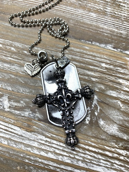 Kate Mesta Black & Silver Collection Large Cross