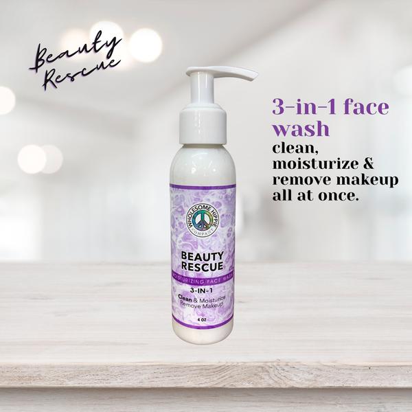 4oz Beauty Rescue 3-in1 Moisturizing Face Wash