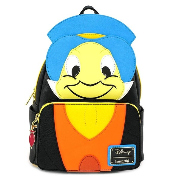 LOUNGEFLY X DISNEY PINOCCHIO JIMINY CRICKET COSPLAY MINI BACKPACK