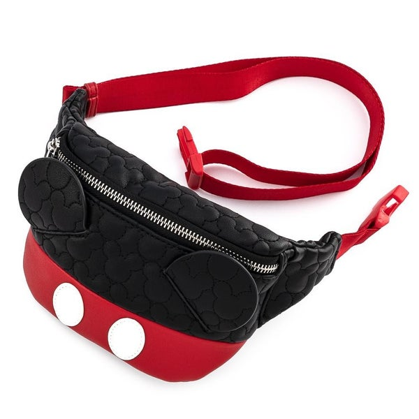 !LOUNGEFLY X DISNEY MICKEY MOUSE QUILTED COSPLAY FANNY PACK