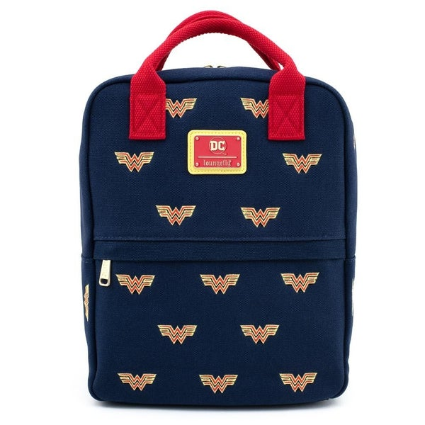 !LOUNGEFLY X DC COMICS WONDER WOMAN ICON CANVAS MINI BACKPACK